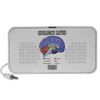 Intelligent Matter Inside (Anatomical Brain Humor) Travel Speakers