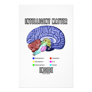 Intelligent Matter Inside (Anatomical Brain Humor) Personalized Stationery