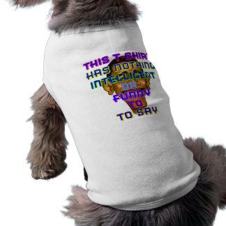 intelligent Obama Sleeveless Dog Shirt