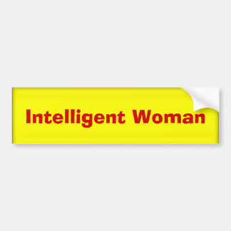 Intelligent Woman Bumper Sticker