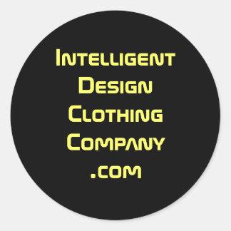 IntelligentDesignClothingCompany.com Round Sticker