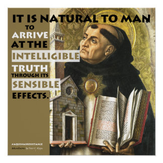 Intelligible & Sensible Aquinas Resistance poster