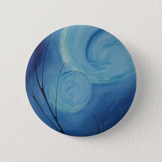 intense blues 6 cm round badge