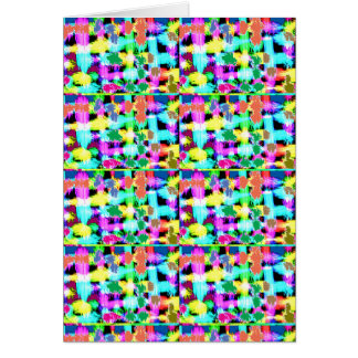 INTENSE Color Patterns Sparkles Giveaway GIFTS luv Greeting Card