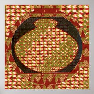 INTENSE Golden Color Jewel Vessel by NAVIN Joshi Print