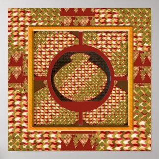 INTENSE Golden Color Jewel Vessel by NAVIN Joshi Poster