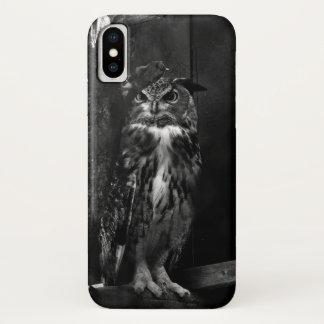 Intense Owl's Glare iPhone X Case