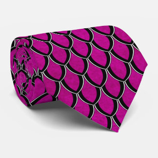 Intense Pink Dragon Scale Tie