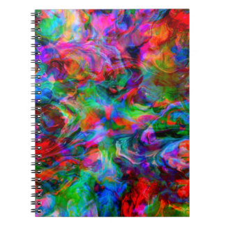 Intense Psychedelic Bright Color Swirl Notebook