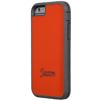 Intense Red Tough Xtreme iPhone 6 case for Jason