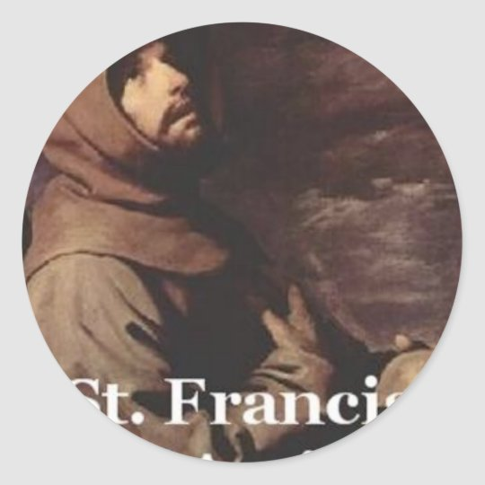 Intense St Francis Assisi gift Franciscan Classic Round