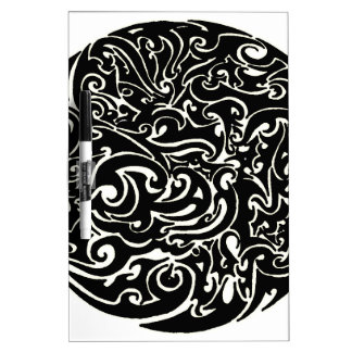 Intensity black on white dry erase board