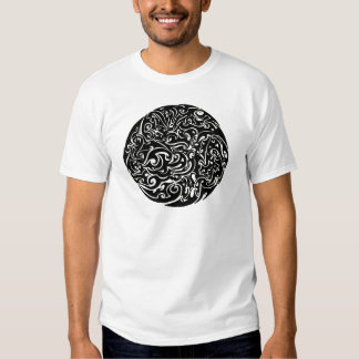 Intensity black on white t-shirts