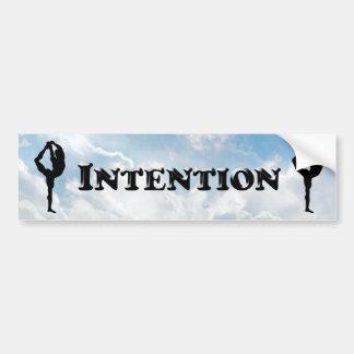 Intention - Bumper Sticker
