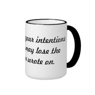 Intentive mind ringer mug