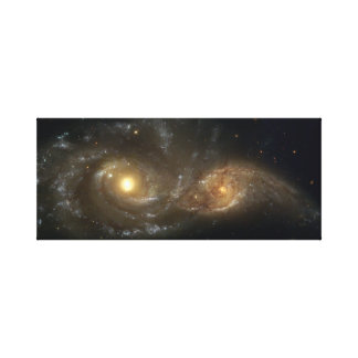 Interacting Spiral Galaxy canvas Canvas Print