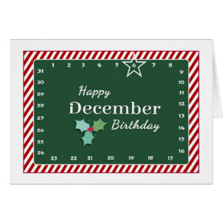 Interactive 'Move the Star' DECEMBER Birthday Card