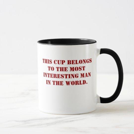 Interesing man cup. mug