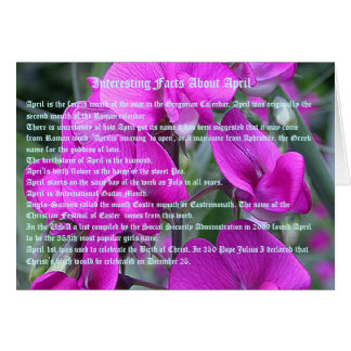 Interesting facts about April Greeting Card