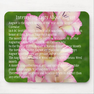 Interesting Facts About August Mouse Pad