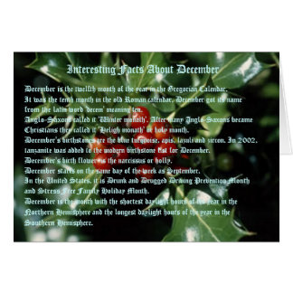 Interesting Facts About December Greeting Card