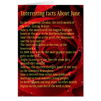 Interesting facts About June Greeting Card