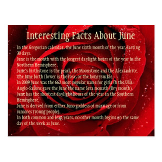 Interesting Facts About June Postcard