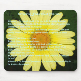 Interesting Facts about November Mouse Mat