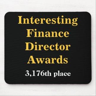 Interesting Finance Director Awards Joke Prize mousepad