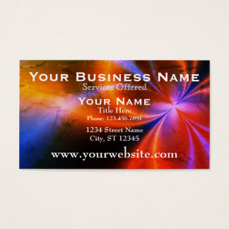 Interesting Light Fractal Art Business Card