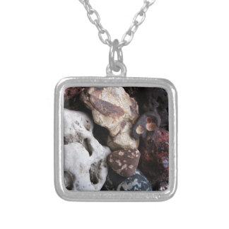 Interesting Rocks from Lake Michigan Shore Square Pendant Necklace