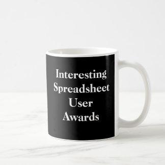Interesting Spreadsheet User Awards - Spoof Mug