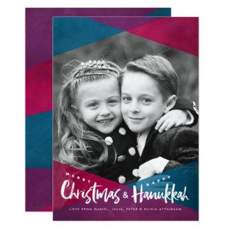 Interfaith Christmas Hanukkah Photo Holiday Cards 13 Cm X 18 Cm Invitation Card