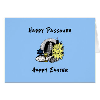 Interfaith Passover and Easter Note Card