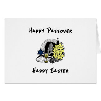 Interfaith Passover and Easter Greeting Card