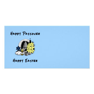 Interfaith Passover and Easter Customized Photo Card