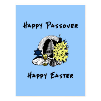 Interfaith Passover and Easter Post Card