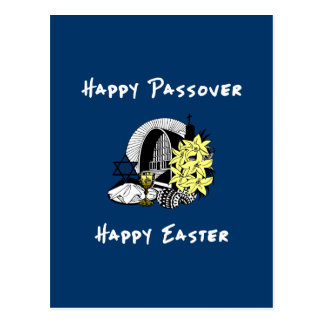 Interfaith Passover and Easter Postcard