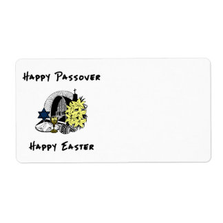 Interfaith Passover and Easter Shipping Label