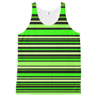 Interference (lime) All-Over print tank top