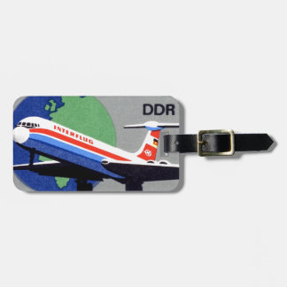 INTERFLUG - National Airline of DDR, East Germany Luggage Tag