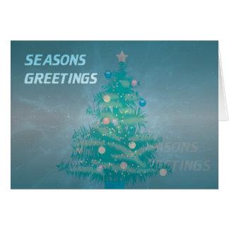 Intergalactic Christmas Tree Greeting Card