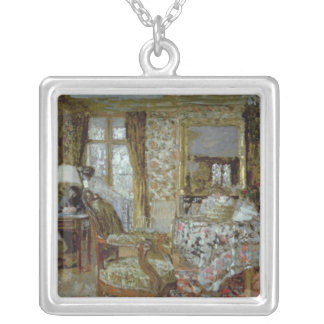 Interior, 1904 silver plated necklace