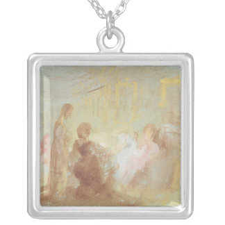 Interior at Petworth House  people in Silver Plated Necklace