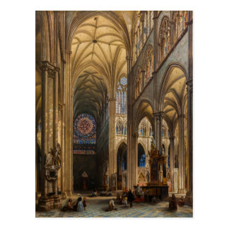 Interior da Catedral de Amiens by Jules Genisson Postcard