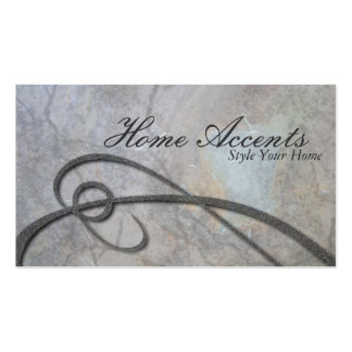 Interior Decorating Aged Gray Rock Business Card
