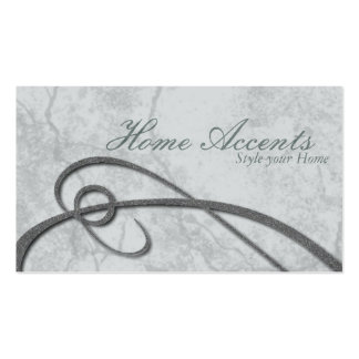 Interior Decorating Aged Grey Blue Business Card