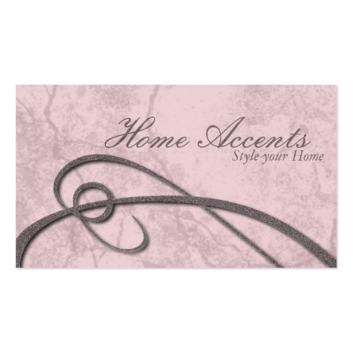 Interior Decorating Aged Pink Marble Business Card
