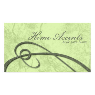 Interior Decorating Aged Sage Green Business Card