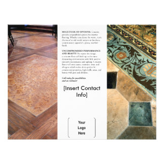 Interior Decorative Concrete Brochure 21.5 Cm X 28 Cm Flyer